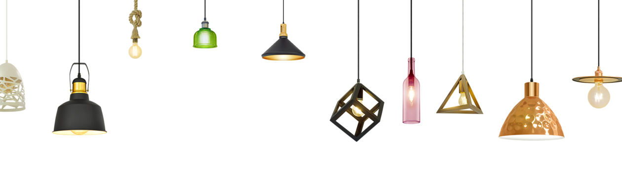 Pendant lamps, table lamps, chandeliers and floor lamps