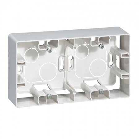 664799 Surface mounting box Niloé - 2 gang - white