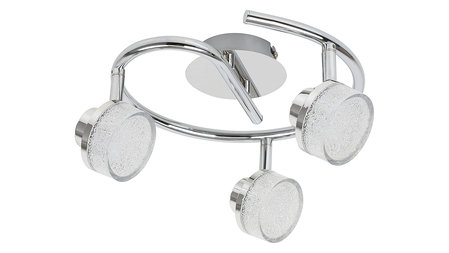 МЕТАЛЕН СПОТ, CHROME, RABALUX, PADMA, LED 15W, 3000K, 1200LM, 5637