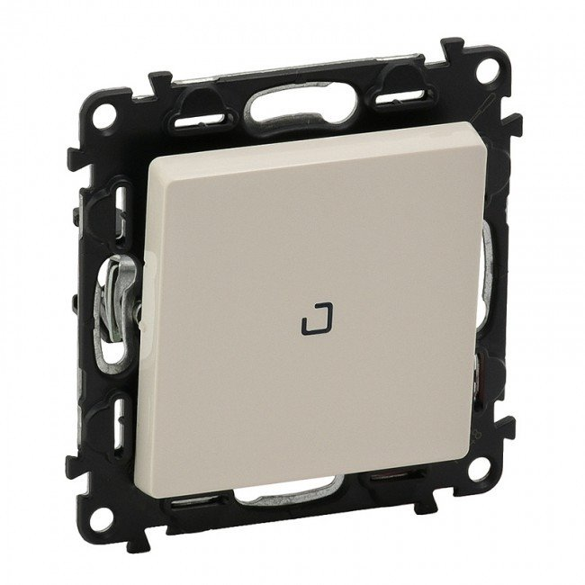 CAT. N° 7 522 10 Illuminated one-way switch Valena Life - 10 AX 250 V~ -with cover plate -ivory