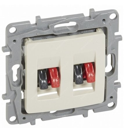Legrand Niloe 664881 Double Speaker Socket Cream Colour