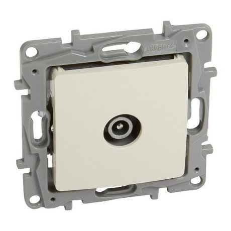 TV male passthrough socket Niloé - attenuation -14 dB - ivory