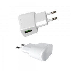 VT-1024 USB TRAVEL ADAPTOR WITH DOUBLE BLISTER PACKAGE-WHITE