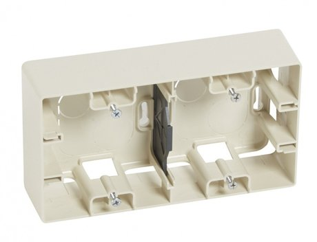 CAT. N° 6 648 99 Surface mounting box Niloé - 2 gang - ivory