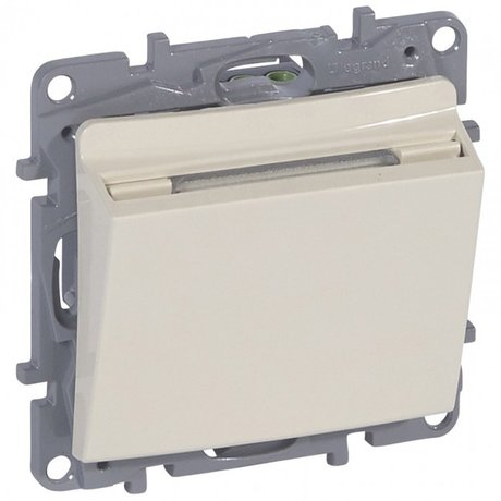 cat. N. 664893 Key card switch Niloé - ivory