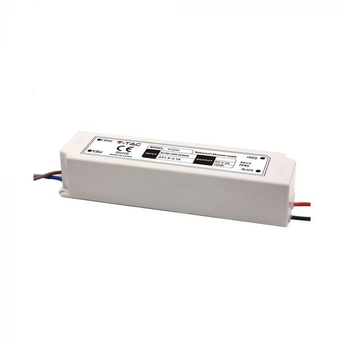 3236 LED Захранване Slim Plastic - 100W 12V IP45